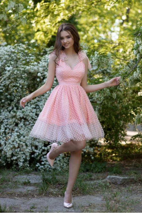 Платье 3420 пудра